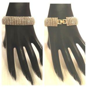 Gold Plated Bracelet w/300 Crystal Rhinestones
